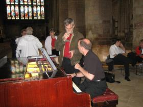 IMG_0714 steve and greg at the piano gloucester cathedral